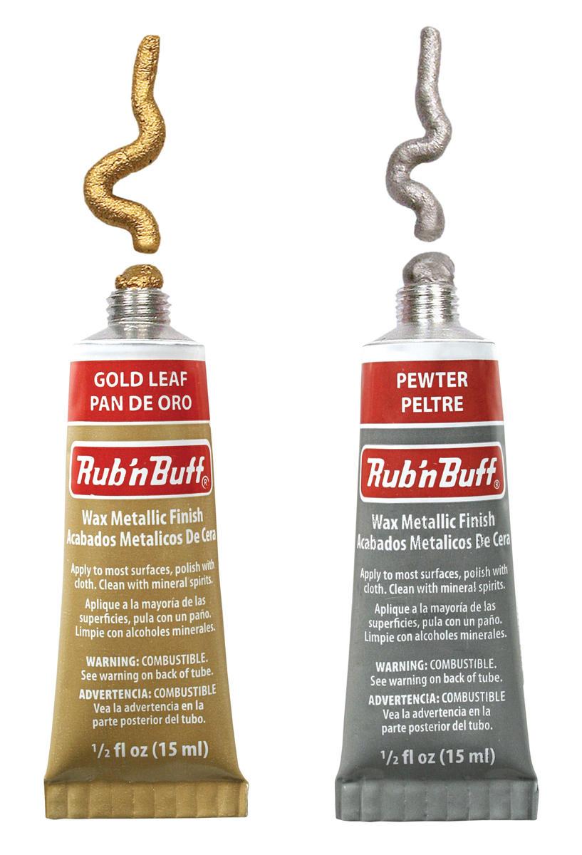 M00196 MOREZMORE Fresh Amaco Rub /'n Buff GOLD LEAF Wax Metallic