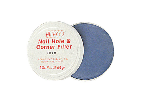 Nail hole filler blue tin