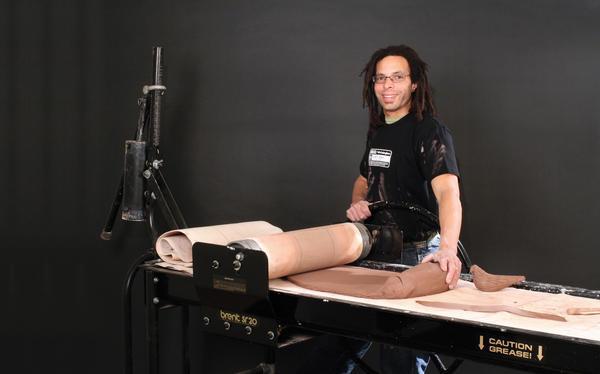 Corey jefferson using slab roller