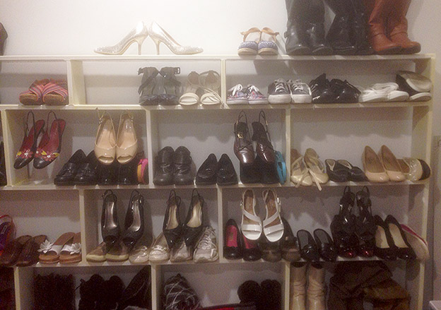 A DIY Closet Shoe Rack in Under 10 Minutes
