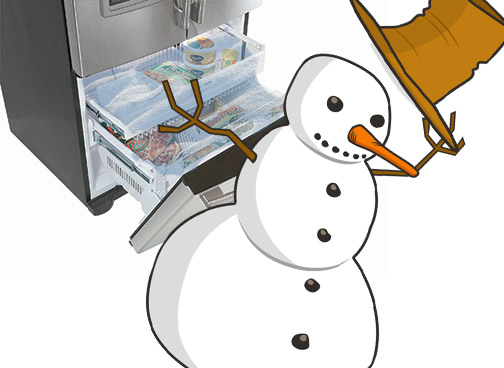 How to prevent freezer frost by repairing a bad gasket / seal