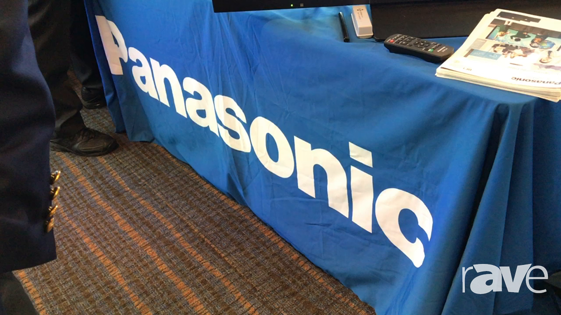 AVI LIVE: Panasonic Demos SpacePlayer Tracklighting Video Projector