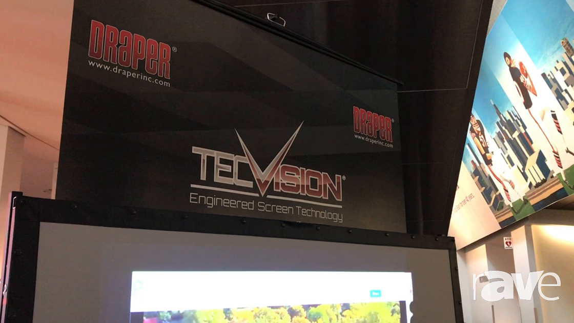 AVI LIVE: Draper Presents TecVision Ambient Light Rejection Screen and Motorized Shades