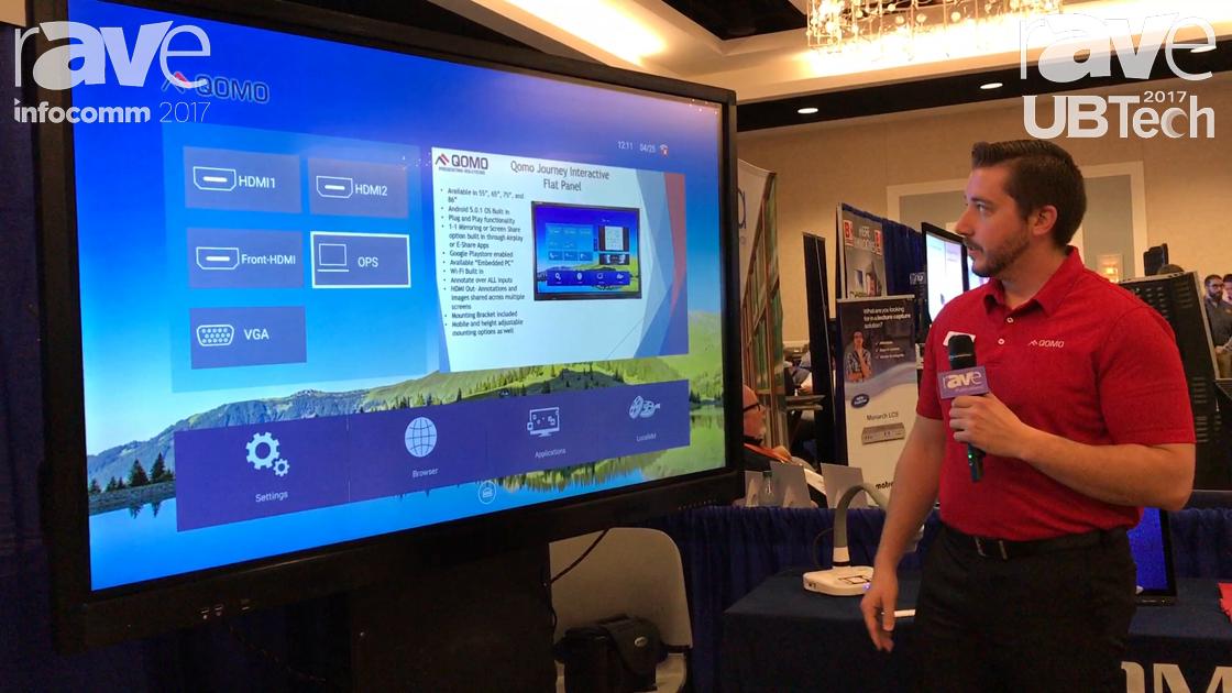 UBTech: QOMO Showcases Journey Interactive Flat Panel