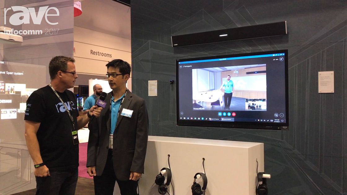 InfoComm 2017: Gary Kayye Gets a HDL 300 Demo From Tyrone Chou of Nureva