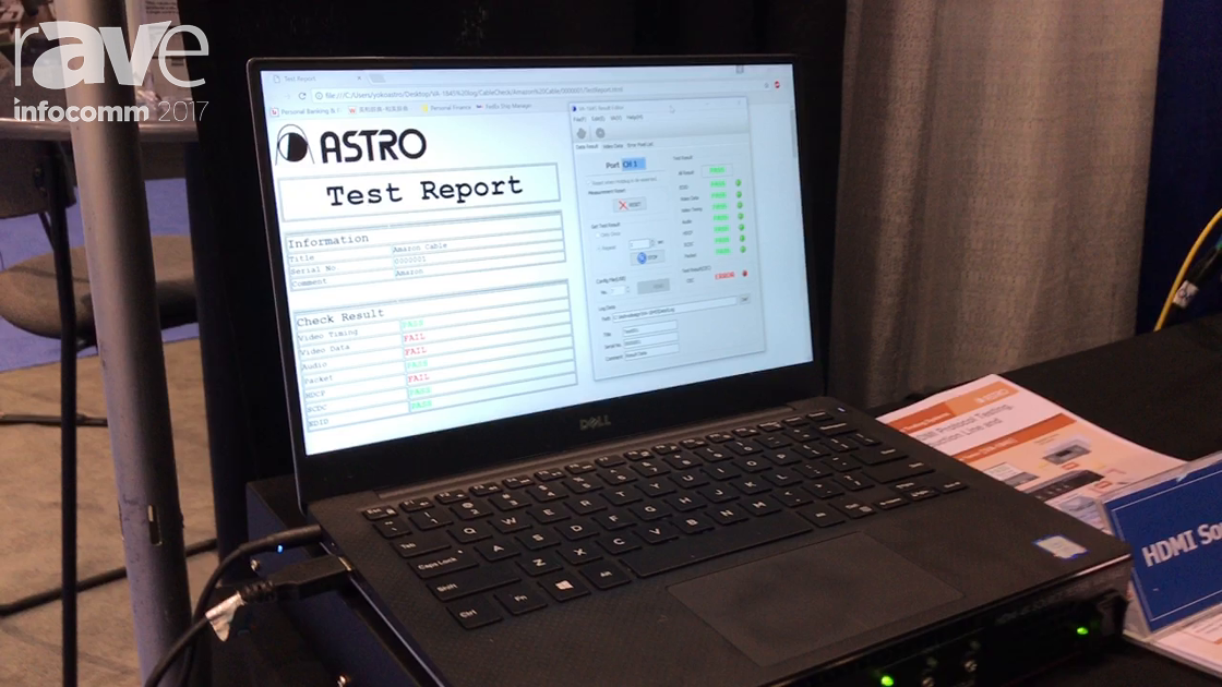 InfoComm 2017: ASTRODESIGN.Inc Shows Off HDMI Source Tester VA-1845