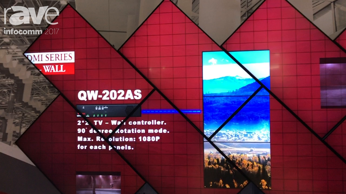 InfoComm 2017: AV Link Shows Its Video Wall with Image Arbitrary Rotation