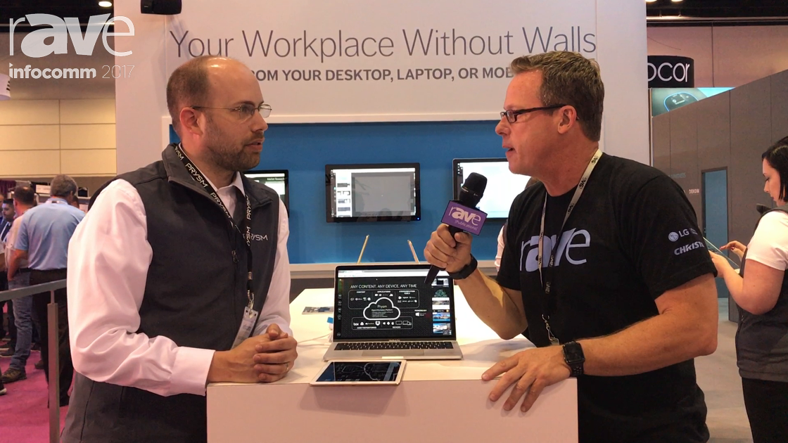 InfoComm 2017: David Schweer of Prysm Gives Gary Kayye a Comprehensive Booth Tour