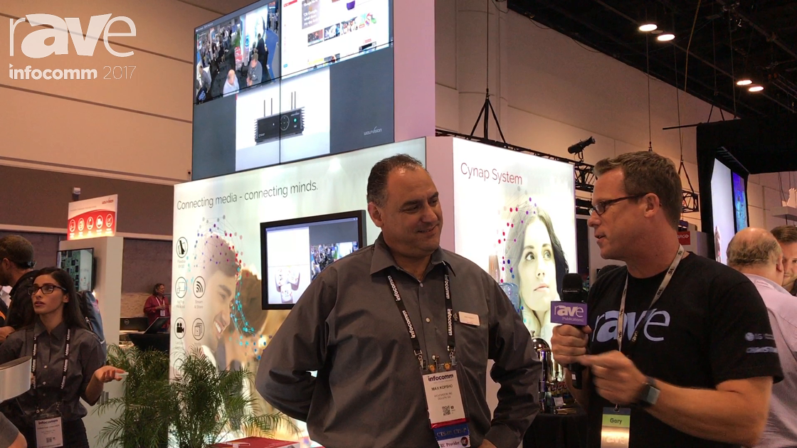 InfoComm 2017: Gary Kayye Speaks to Max Kopsho of Wolfvision About Cynap 365 Collaboration System