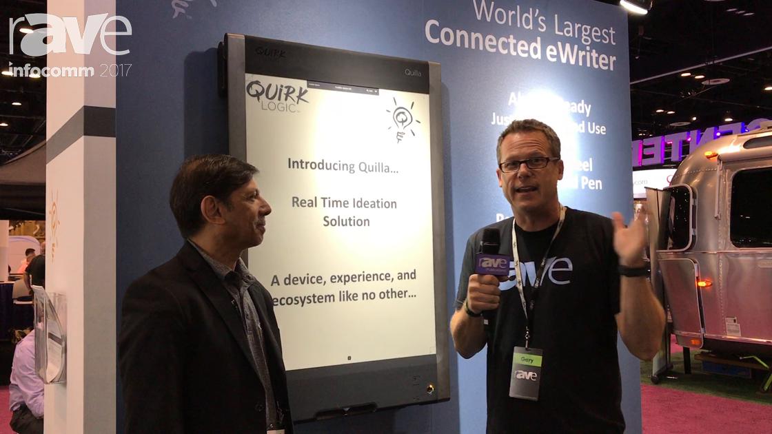 InfoComm 2017: Gary Kayye Speaks to Nashir Samanani of QuirkLogic About the eInk-Based Collaboration