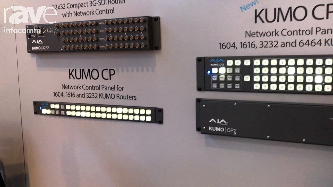 InfoComm 2017: AJA Adds CP2 Router Control Panel