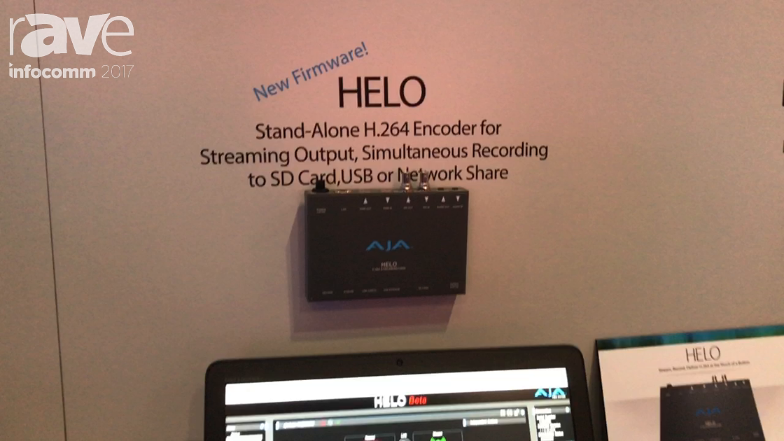 InfoComm 2017: AJA Talks About Its New Firmware for HELO Streaming Appliance