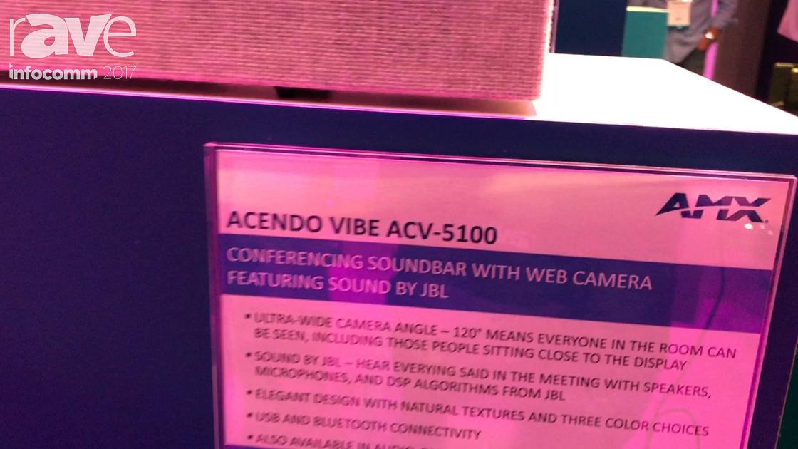 InfoComm 2017: AMX Shows off Acendo Vibe Video Conferencing Sound Bar