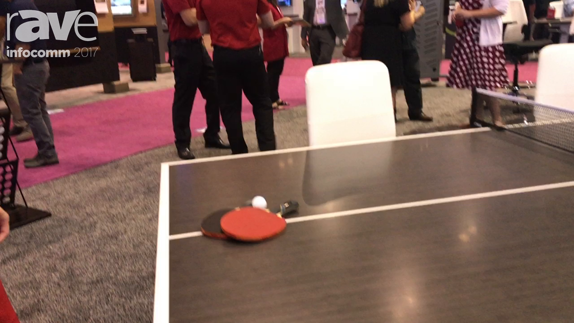 InfoComm 2017: AVTEQ Demos Custom Conference Ping Pong Table