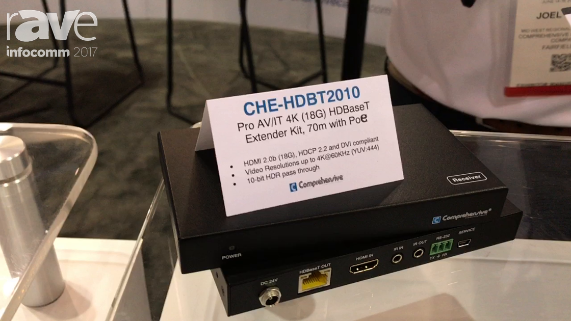 InfoComm 2017: Comprehensive Adds Their CHE-HDBT2010 HDBaseT 70m with PoE