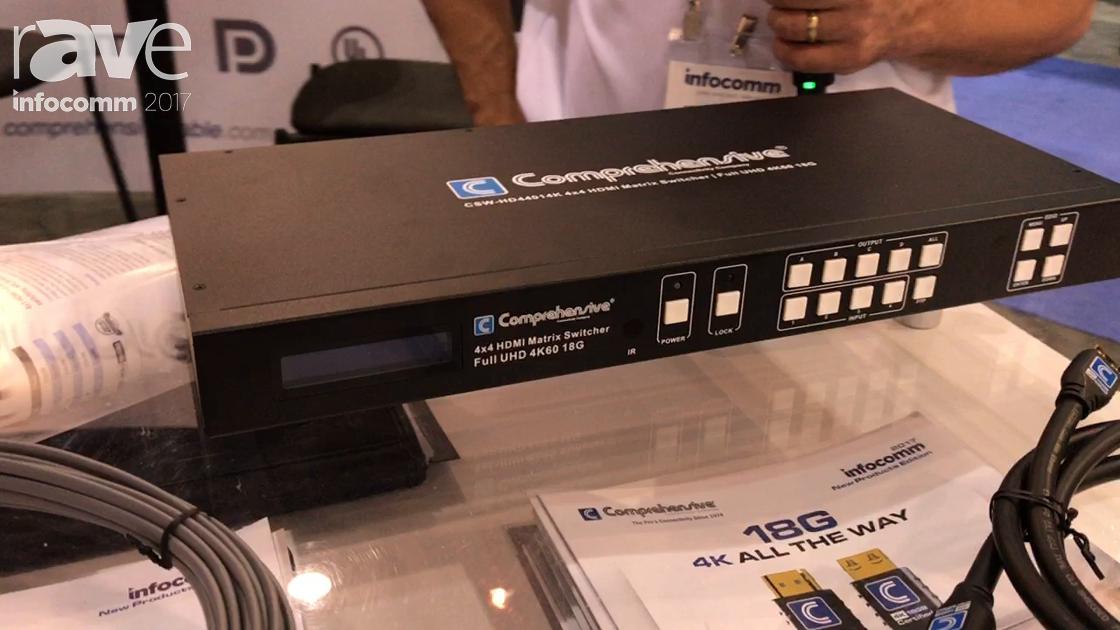 InfoComm 2017: Comprehensive Talks About Their CSW-HD44014K 4×4 HDMI Matrix Switcher