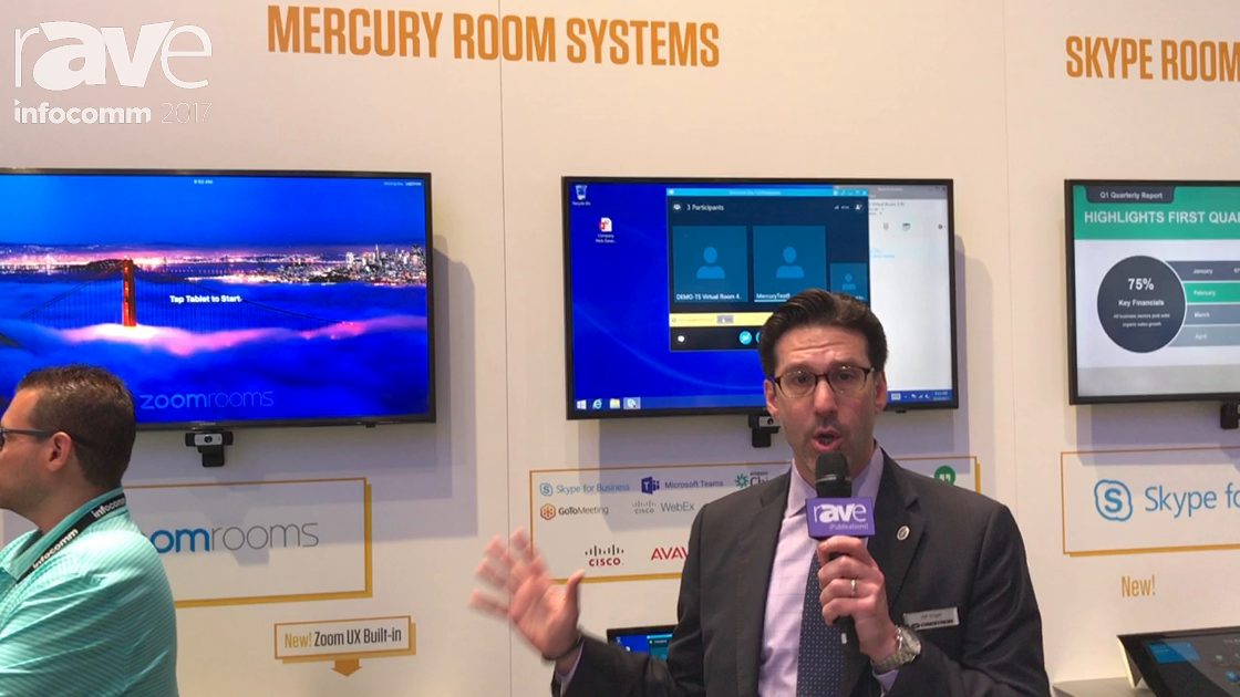 """InfoComm 2017: Crestron Electronics Presents All-in-One Meeting Room Solution """"Mercury"""""""