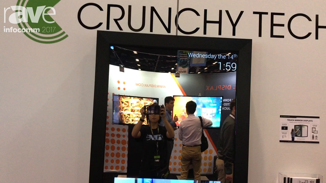 InfoComm 2017: Crunchy Logistics Shows Off Touch Mirror Display