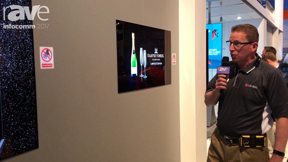 InfoComm 2017: LG Exhibits OLED Wallpaper Display Digital Signage Solution