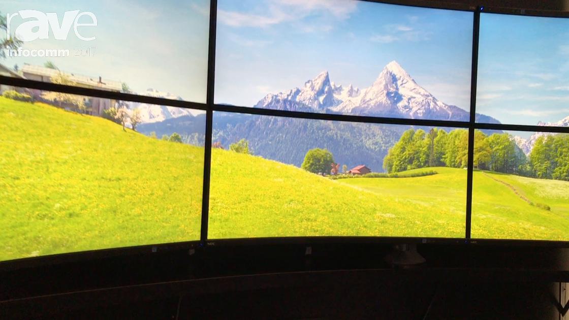 InfoComm 2017: NEC Display Features MultiSync EX341R Curved Display