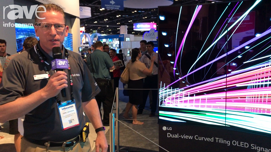InfoComm 2017: LG Features Dual-View Curved Tiling OLED Signage