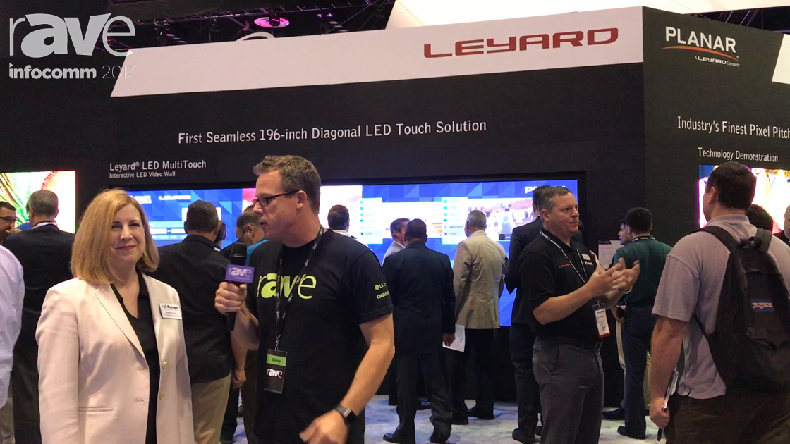 InfoComm 2017: Jennifer Davis of Leyard and Gary Kayye Discuss LED Touch and the Amazing 0.7 mm LED