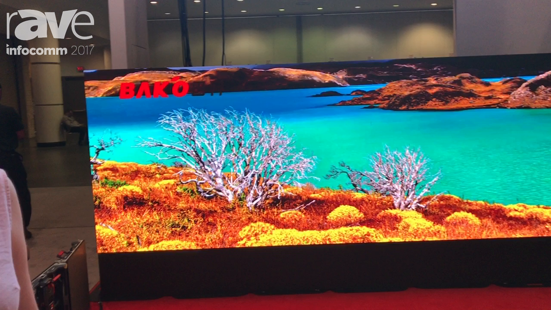 InfoComm 2017: Bako Exhibits Their UHD Small Pitch Wave Series Displays