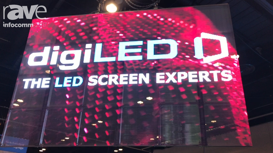 InfoComm 2017: digiLED Shows Off Their Mirage-M Semi-Transparent Display