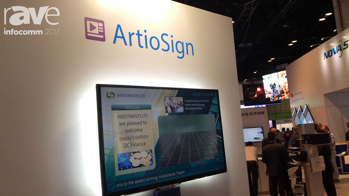 InfoComm 2017: Exterity Shows Their ArtioSign Digital Signage Solution