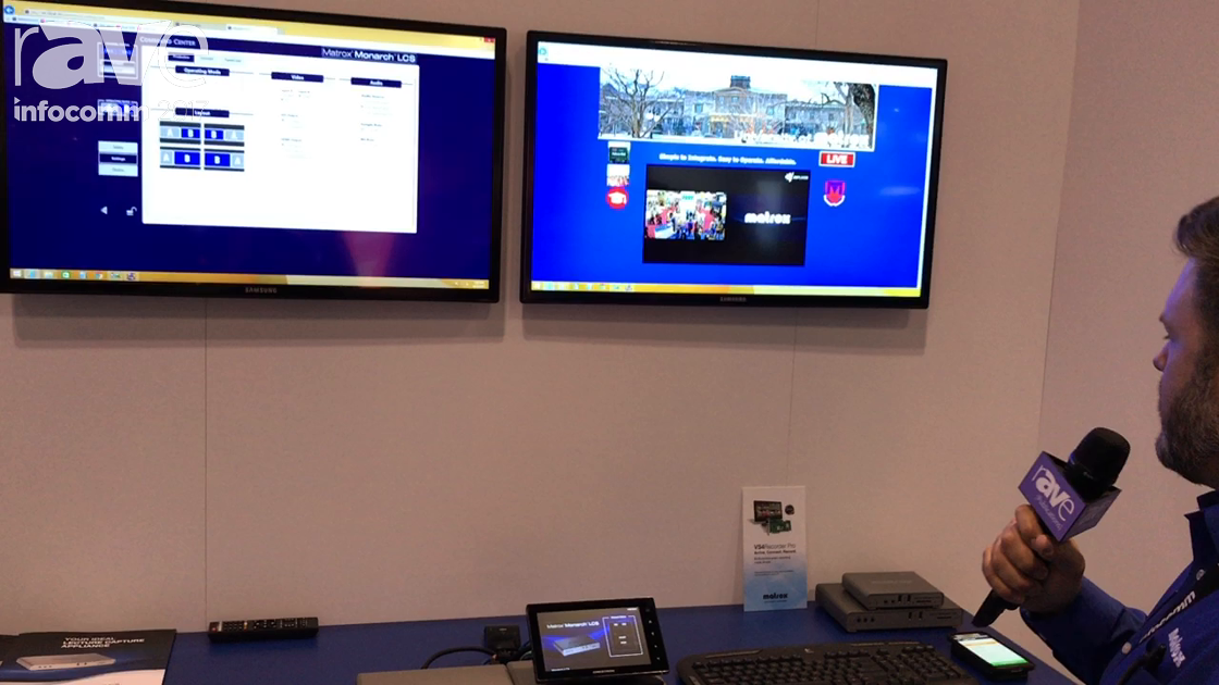 InfoComm 2017: Matrox Exhibits Monarch LCS Lecture Capture Solution