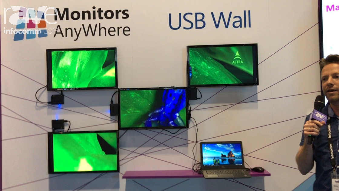 InfoComm 2017: Monitors Anywhere Talks About USB Wall