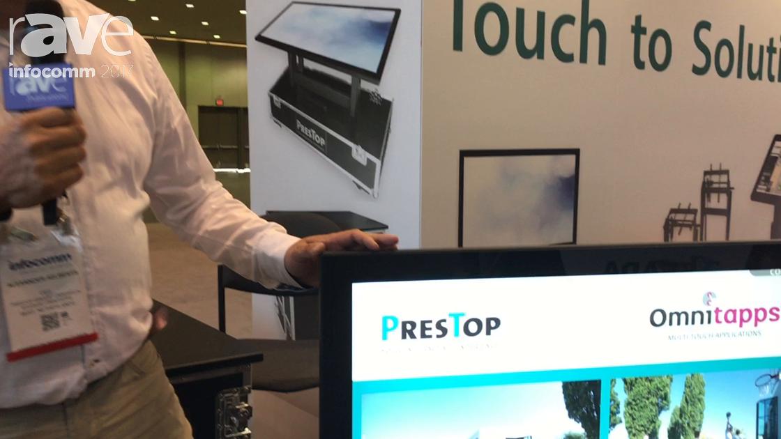 InfoComm 2017: PresTop Demonstrates Their Tilting Multi Touch Displays