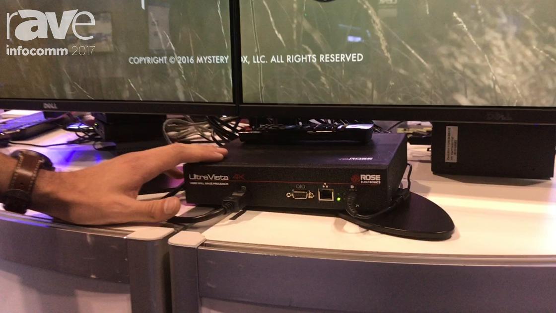 InfoComm 2017: Rose Electronics Showcases UltraVista 4K Video Wall Range Processor