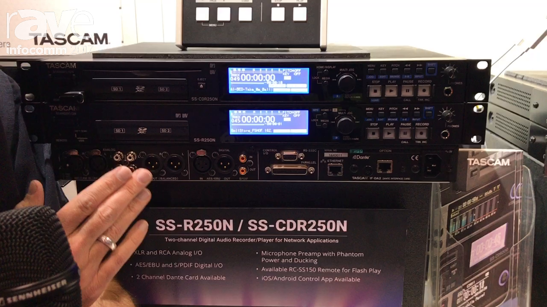 InfoComm 2017: TASCAM Shows Off 2-Channel Recorders for CD and USB