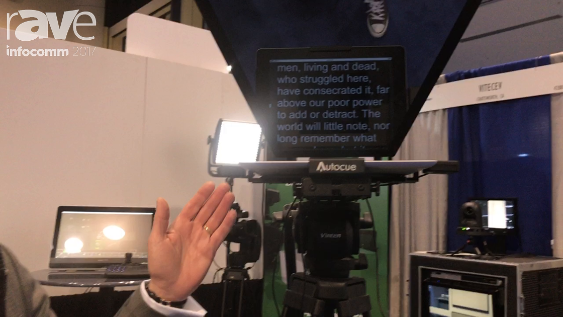 InfoComm 2017: VitecEV Shows Off Autocue Prompting Unit