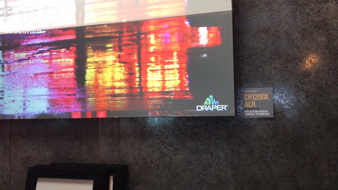 InfoComm 2017: Draper Features the CH1200X ALR Projection Screen Material, Part of TecVision