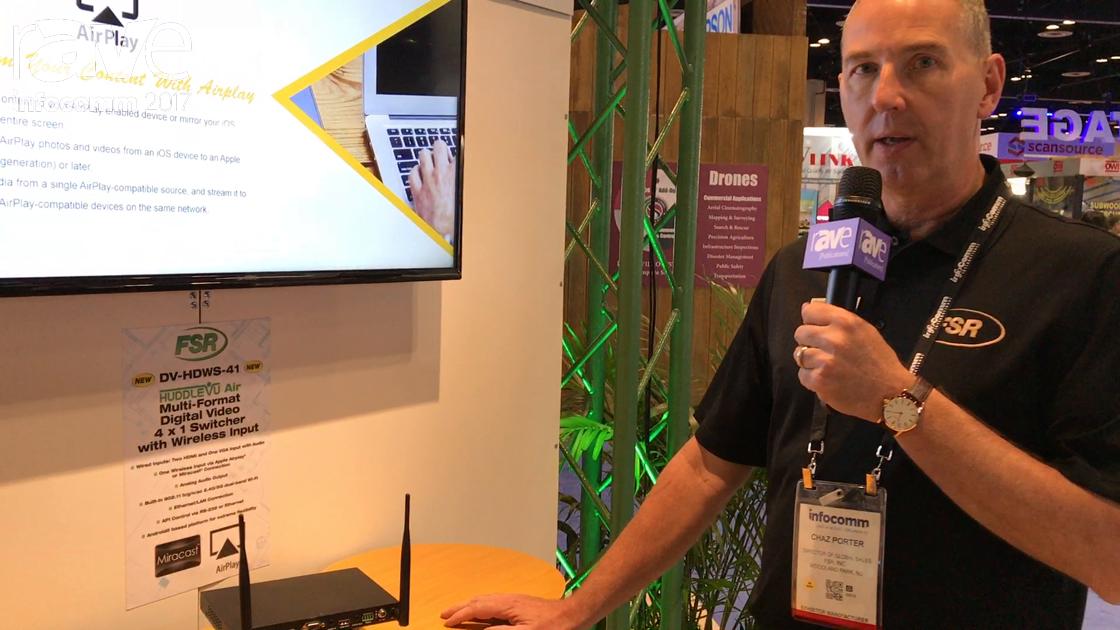 InfoComm 2017: FSR Shows Off HuddleVu Air 4×1 Switcher