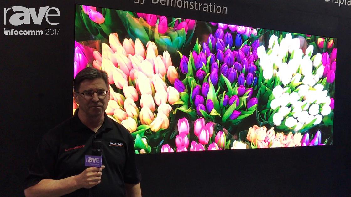 InfoComm 2017: Planar Leyard Shows Off the 0.7mm LED Display Technology Demonstration