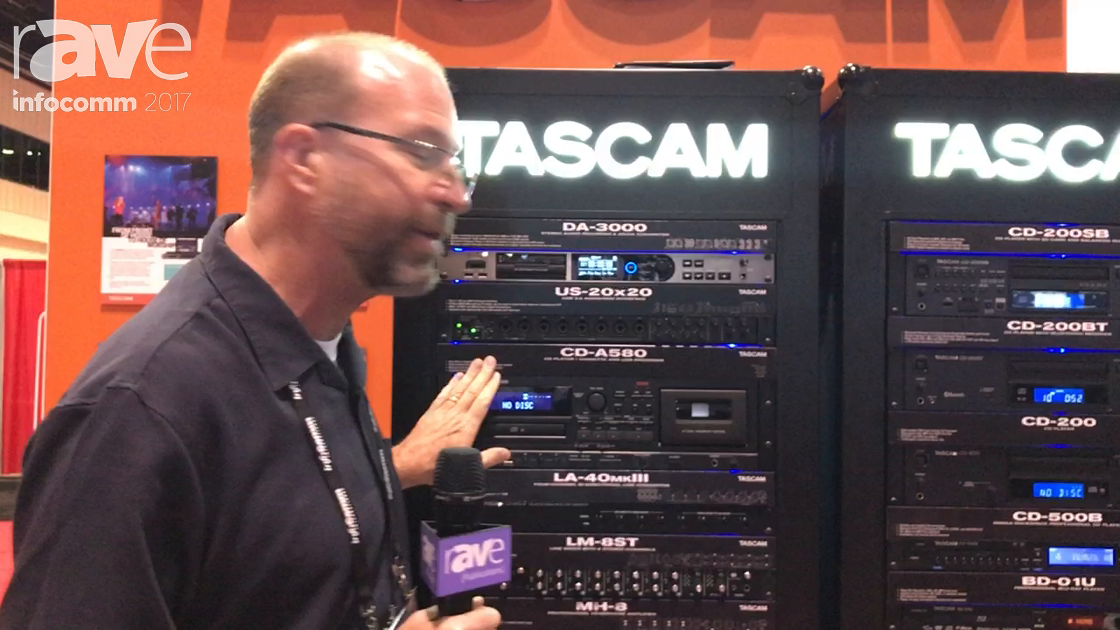 InfoComm 2017: TASCAM Presents Cassette, CD and USB Player & Recorder