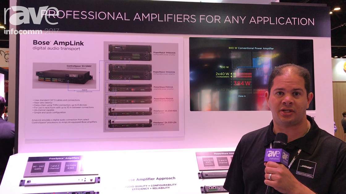 InfoComm 2017: Bose Professional Launches Digital Audio Connection AmpLink