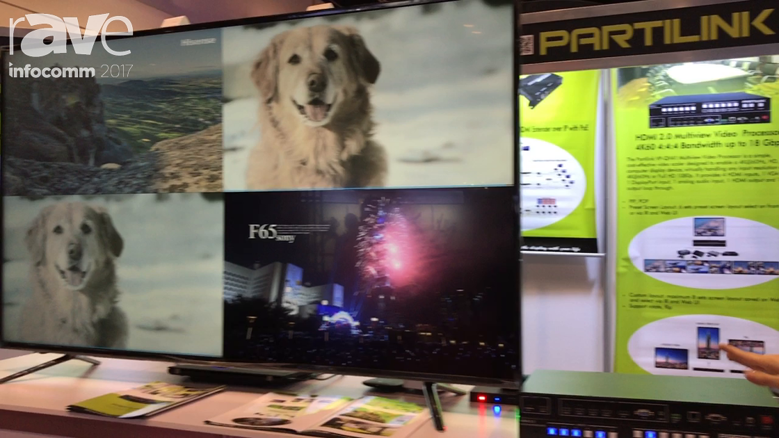 InfoComm 2017: PARTILINK Features HDMI 2.0 Multiview Processor