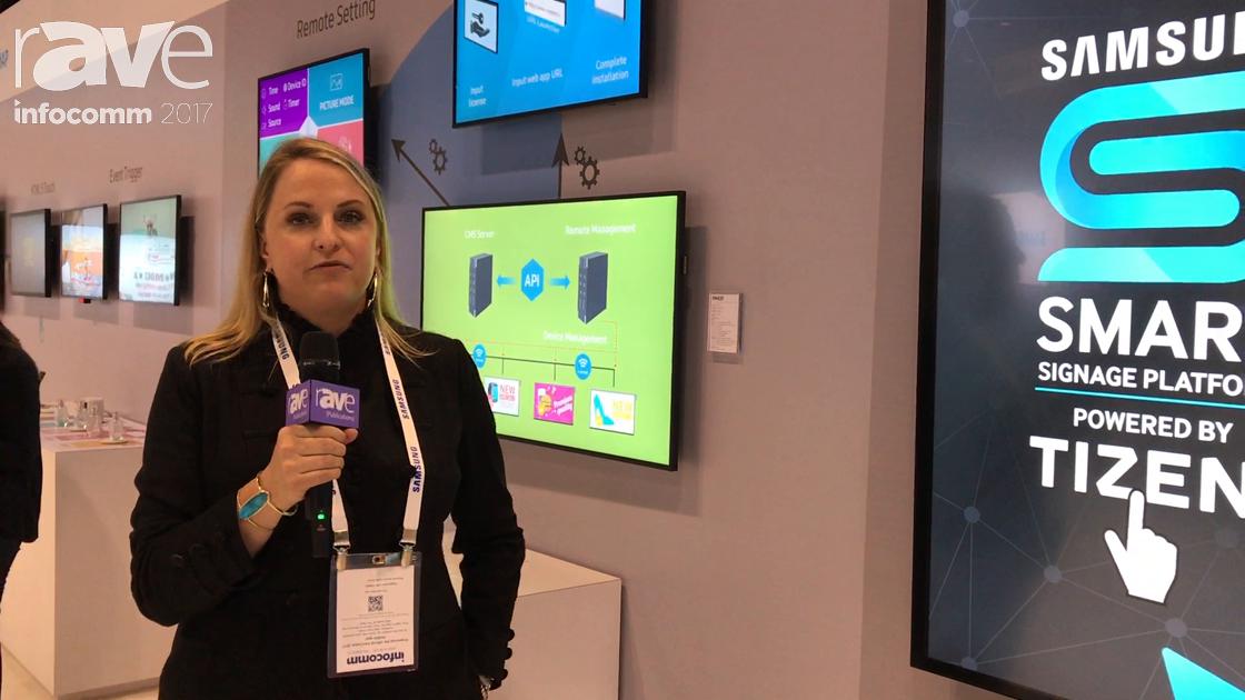 InfoComm 2017: Samsung Exhibits Tizen Smart Signage Platform