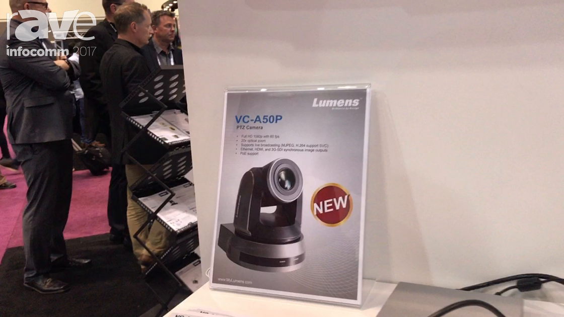 InfoComm 2017: Lumens Features VC-A50P Ethernet Camera With HDMI, Serial Digital Port