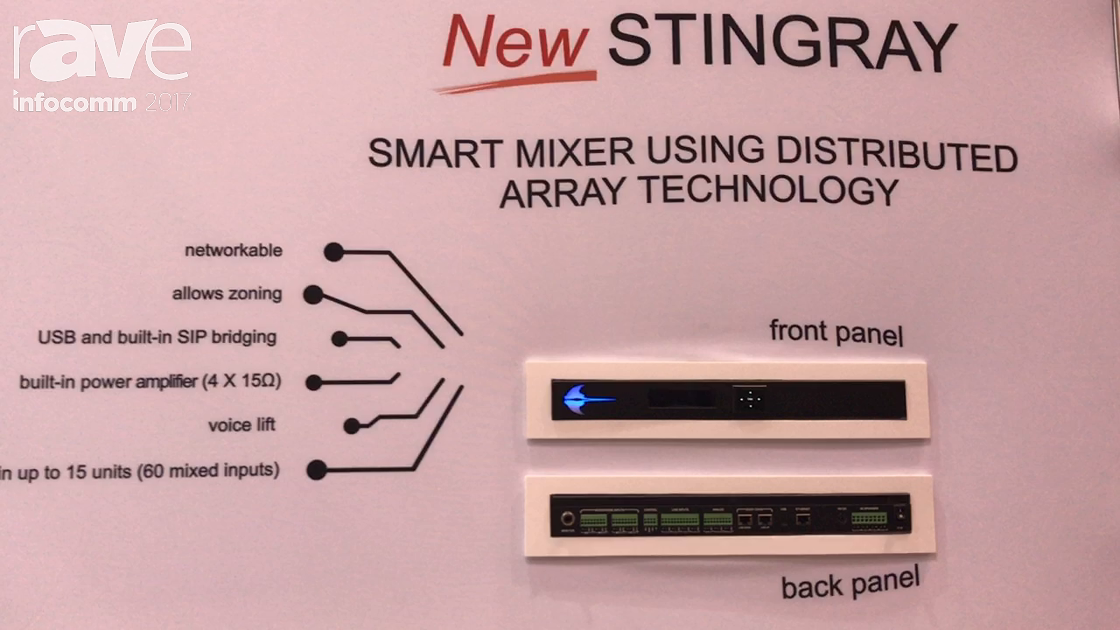 InfoComm 2017: Phoenix Audio Technologies Features Stingray Smart Mixer Using Distributed Array Tech
