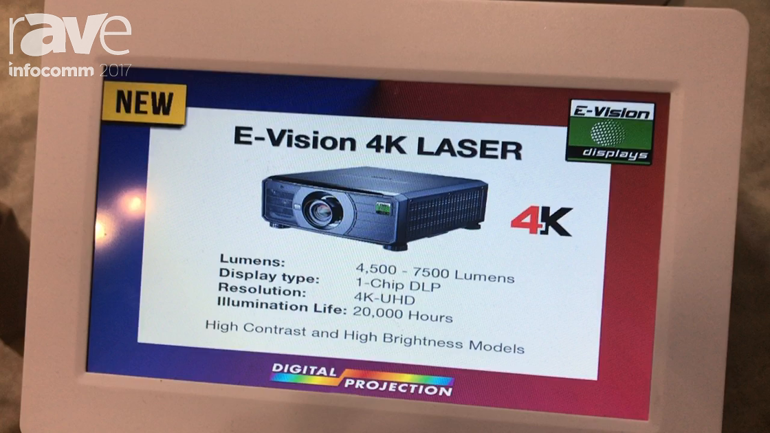 InfoComm 2017: Digital Projection Highlights the E-Vision 4K Laser Projector