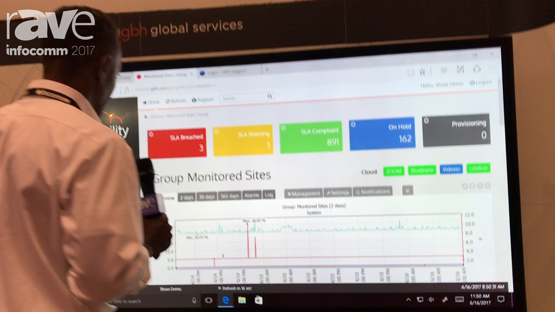 InfoComm 2017: GBH Communications Shows Visibility Platform for Managing Video Conferencing Network