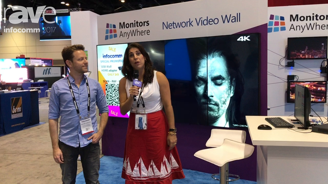 InfoComm 2017: Monitors Anywhere Unviels Thin Global Network Displays