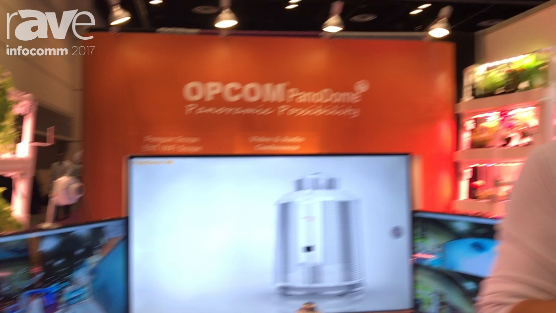 InfoComm 2017: OPCOM Presents 360 Degree Panoramic Camera for Video Conferencing
