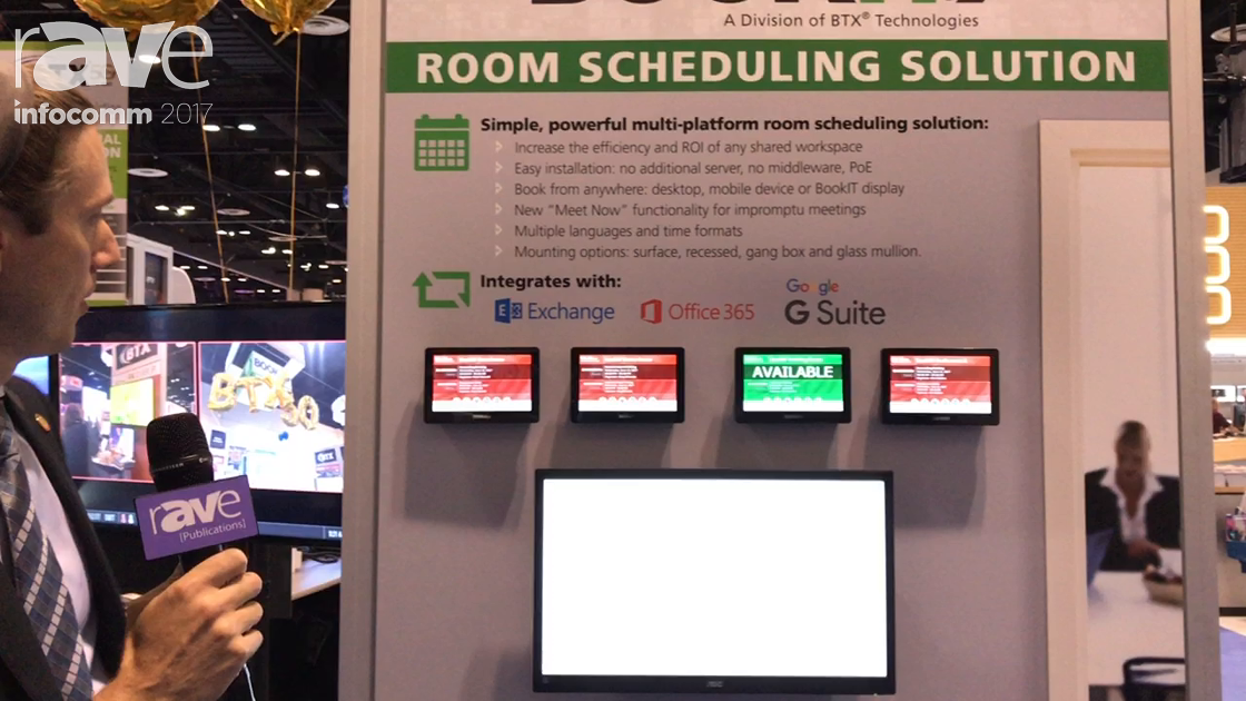 InfoComm 2017: BTX Shows Off BookIt Room Management System