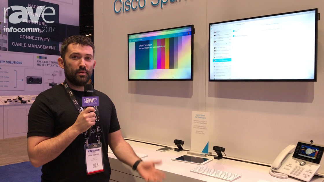 InfoComm 2017: Cisco Demos Spark for Developers Smartsheet Web Integration Application